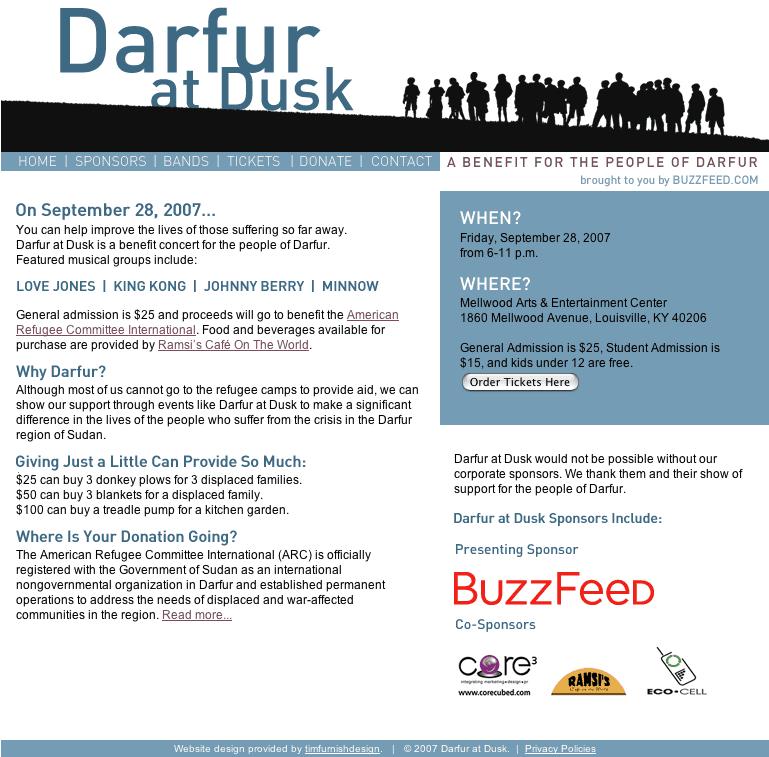 Darfur at Dusk web site
