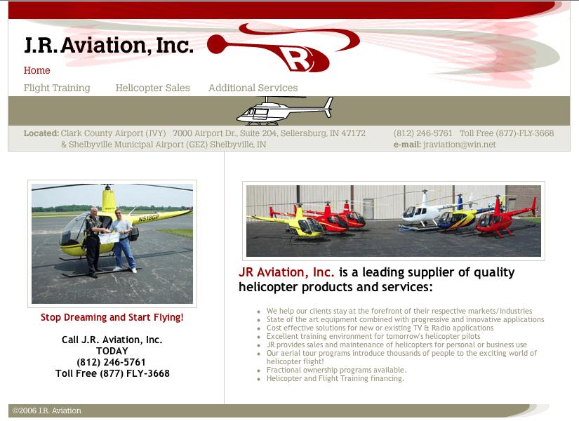 J.R. Aviation, Inc. web site