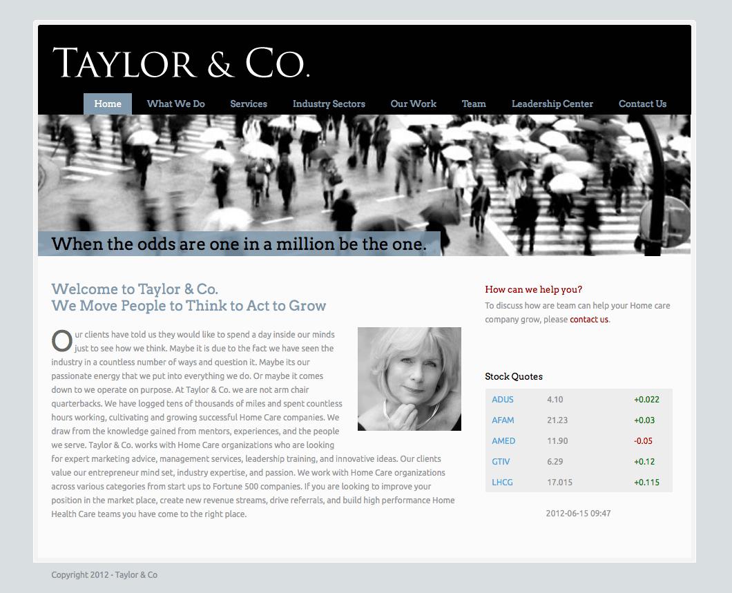 Taylor & Co web site