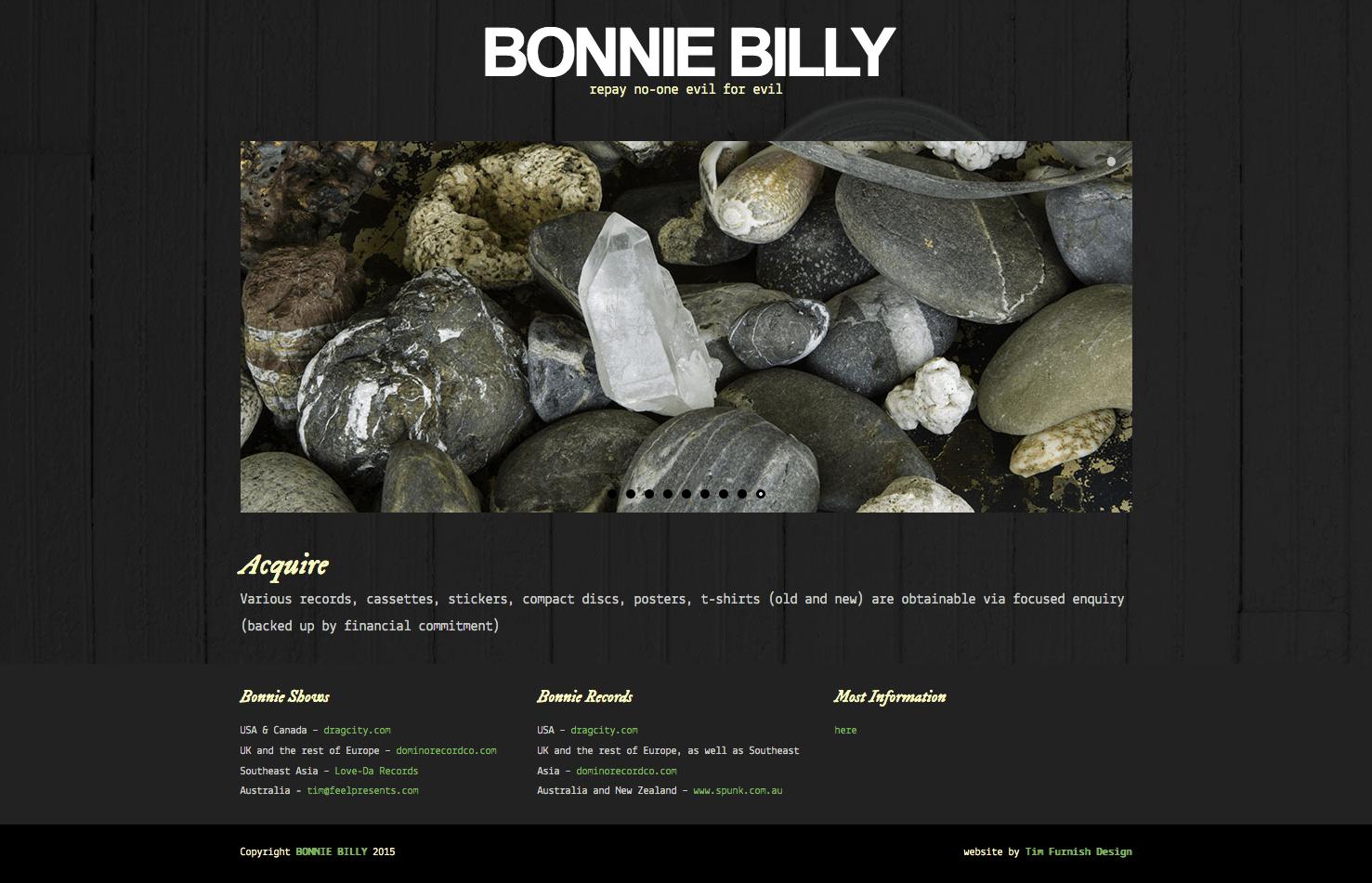 Bonnie Prince Billy web site