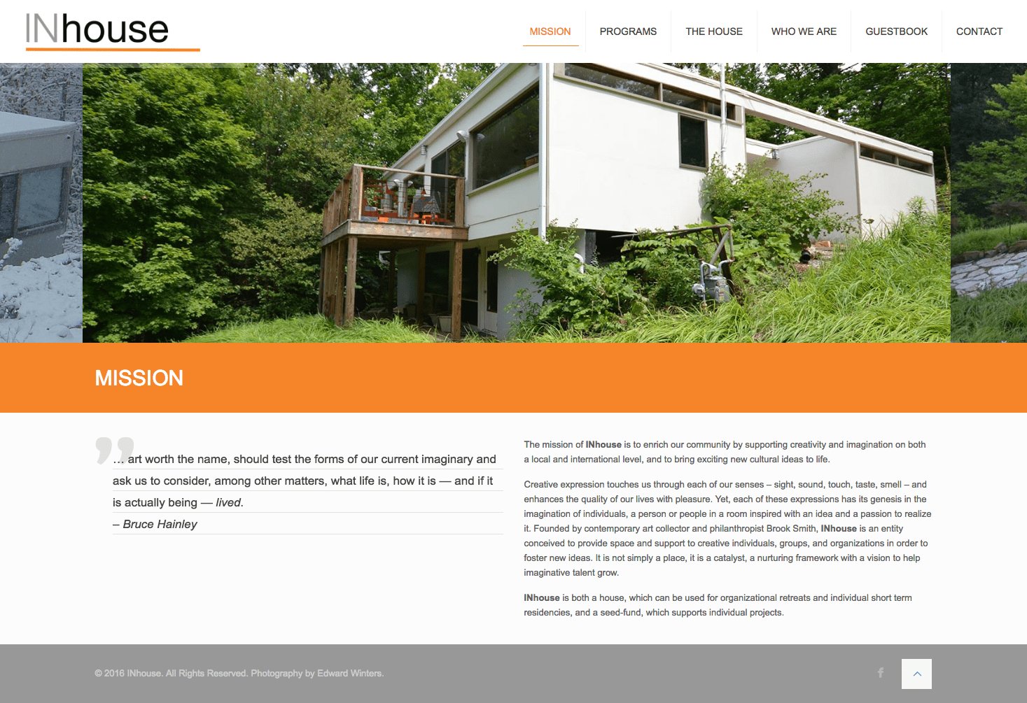 InHouse Creative web site